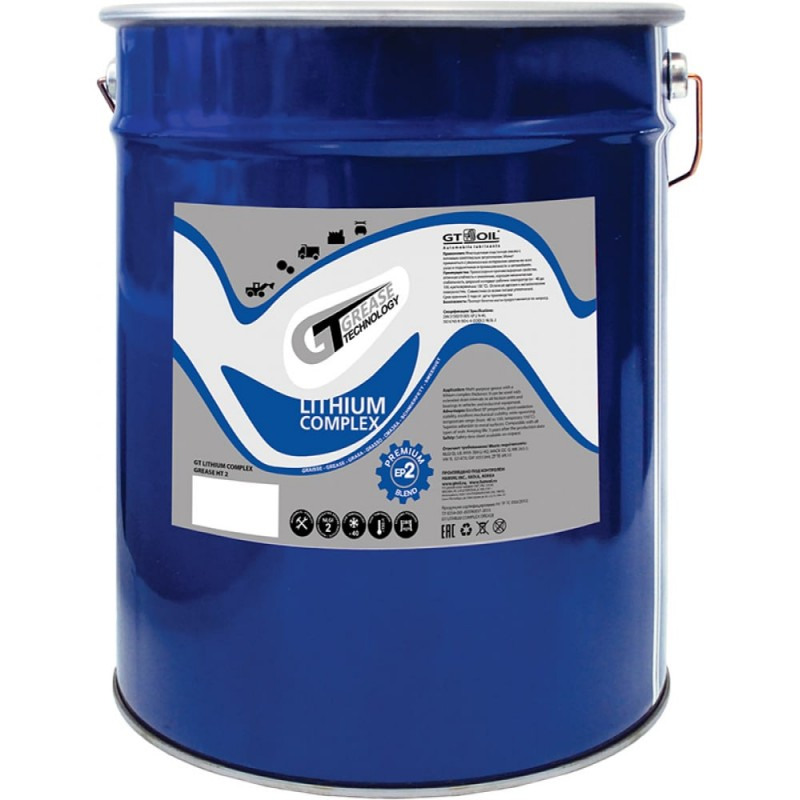 Смазка lithium complex grease ht, ep2, 18 кг gt oil 4640005941388