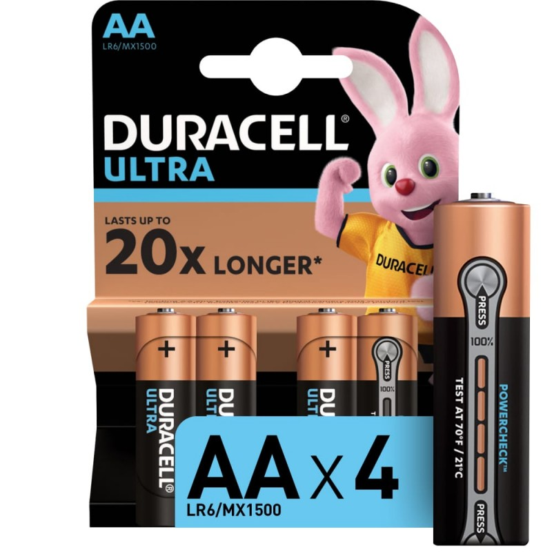 Батарейки duracell lr6-4bl ultra power 4 шт б0038761